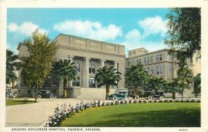 Arizona Deaconess Hospital. Phoenix, AZ White Border Postcard