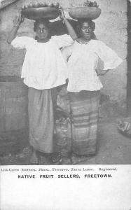 Sierra Leone Freetown, Native Fruit Sellers, Ladies
