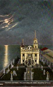 New Jersey Atlantic City Million Dollar Pier Young's Cottage At Night