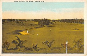 Miami Beach Florida Golf Grounds Birdseye View Antique Postcard KK1731