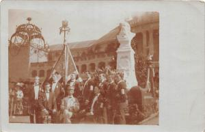B7/ Bruck? Germany Foreign Real Photo RPPC Postcard Jahm Monument Leaders