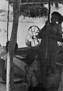 Madagascar Antsakabary Native Woman Working