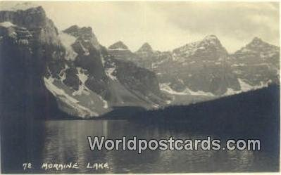 Real Photo Moraine Lake Canada Unused