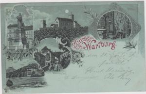 Gruss von der Wartburg , Germany , PU-1899
