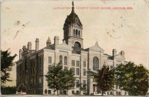 Lancaster County Court House Nebraska NB Postcard F94