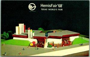 HemisFair '68 Texas World's Fair Postcard Southwestern Bell Telephone Pavilion