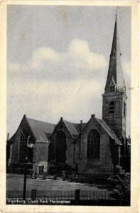 CPA VOORBURG Oude Kerk Herenstraat NETHERLANDS (605002)