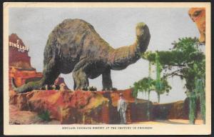 Chicago Worlds Fair 1933-1934 Sinclair Dinosaur Exhibit Chicago Unused c1933
