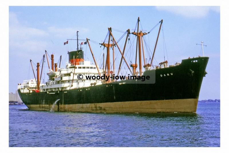 mc4530 - Guinea Gulf UK Cargo Ship - Daru , built 1958 - photo 6x4