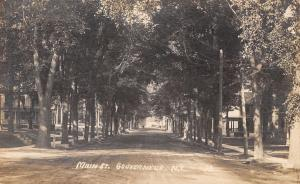 Gouverneur New York~Main Street Homes~Tree Lined Dirt Road~1914 Real Photo~RPPC