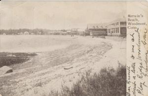 WOODMONT CT - MERWIN'S BEACH + OLD HOTELS 1906 view