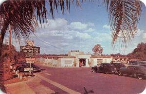 Orlando Florida White Turkey Drive In Street View Vintage Postcard K64397
