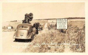RPPC Magnetic Hill, Moncton, NB Roadside Attraction c1940s Vintage Postcard