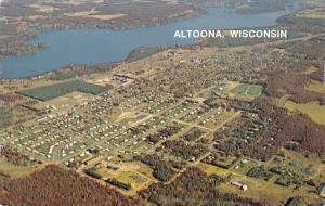 Altoona Wisconsin~Birdseye Town Layout~Homes~Business~Race Track~1970s Postcard