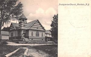 Presbyterian Church Meridale, New York Postcard