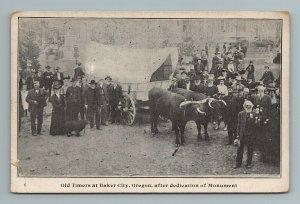 Old Timers Baker City Dedication Wagon Oregon OR Postcard