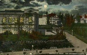 WA - Seattle. University Campus at Night