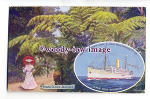 LS0207 - Imperial Direct Liner - Port Kingston - art - Adverting postcard