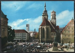 Post Card Stuttgart Germany  Schillerplatz