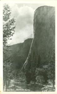 El Capitan, Yosemite Valley, unused Real Photo Postcard