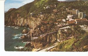 Postal 035059 : Panoramica dela Quebrada. La Quebrada Panoramic view. Acapulc...