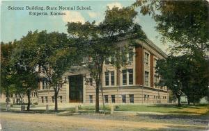 Emporia Kansas~State Normal School~Science Building~1910 Postcard