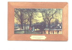 Art Series Faux Wood Design Frame Spiro, Country Scene