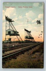 Gatun Panama Canal, Tramway Towers, Vintage Postcard