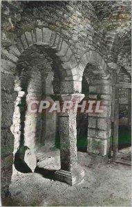Modern Postcard Abbey Flavigny sur Ozerain (Gold C) Carolingian Pillar (VIII S)