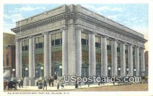 Raleigh Banking & Trust Co Raleigh NC Unused