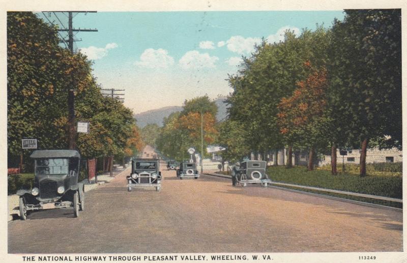 WHEELING , West Virginia , 1910s ; National Highway, Pleasant Vally #2
