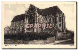 Postcard Old Saint Nazaire L & # 39eglise