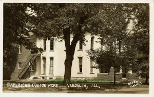 1946 Vandalia IL Real Photo PC: American Legion Home Dedicated & Available--Rare