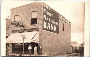 Postcard WA Toppenish First National Bank Real Photo Postcard 1910 AN10
