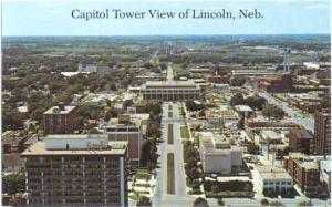 Capitol Tower View of Lincoln, Nebraska, NE, Chrome