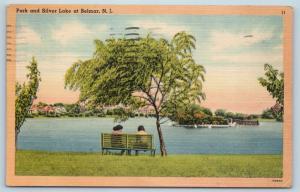 Postcard NJ Belmar Park & Silver Lake at Belmar New Jersey Vintage Linen N17