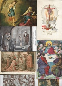 Artist Signed Art And Religion Postcard Lot of 40 01.14