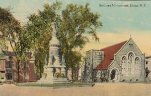 UTICA , New York , PU-1913; Soldiers Monument