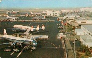 Birdseye Los Angles California International Airport Postcard Mitock 20-4515