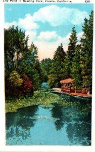 California Fresno Lily Pond In Reading Park Curteich