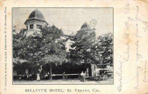 BELLEVUE HOTEL El Verano, CA Sonoma Valley 1907 Vintage Postcard