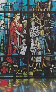 SELMA, Alabama, 1950-1960's; Good Samaritan Satined Glass Window