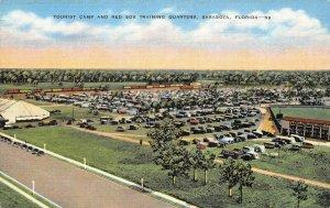LP73 Sarasota  Florida Postcard Red Sox Baseball Training Camp