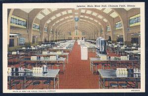 Main Mess Hall Interior Chanute Field IL unused c1940