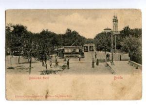 147288 ROMANIA BRAILA Trams Carol Bulevard Vintage postcard