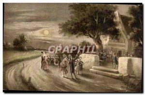 Old Postcard Fantasy Landscape Fete