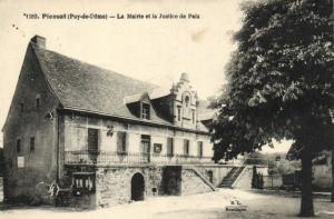 CPA PIONSAT - La Mairie et la Justice de Paix (106017)
