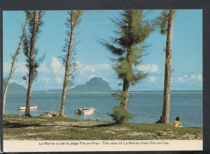 Mauritius Postcard - The View of Le Morne From Flic-en-Flac     T7975