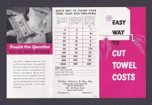 1952 NATHAN SCHWARTZ & SON AD FOR TOWEL DISPENSERS, BRIDGEPORT CT