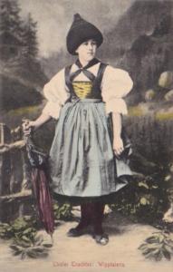 Austria Tiroler Trachten Wipptalerin Beautiful Girl In Traditional Costume